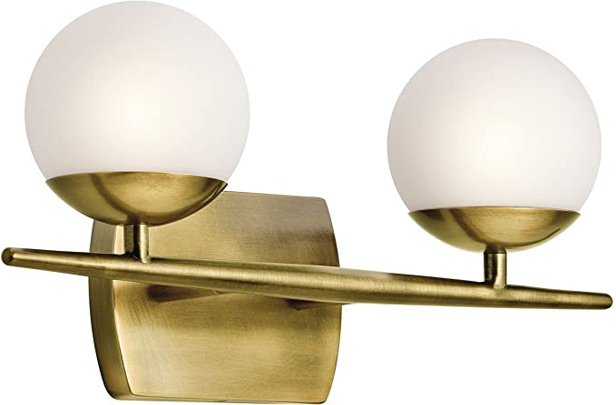 Ordinaire Kichler 45581NBR Jasper 2 Light Bath Vanity In Natural Brass