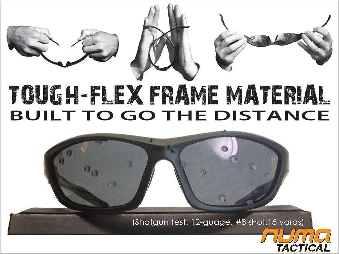 Polarized Grey Lenses Numa Tactical Chisel Tactical Military Sunglasses Black Frames