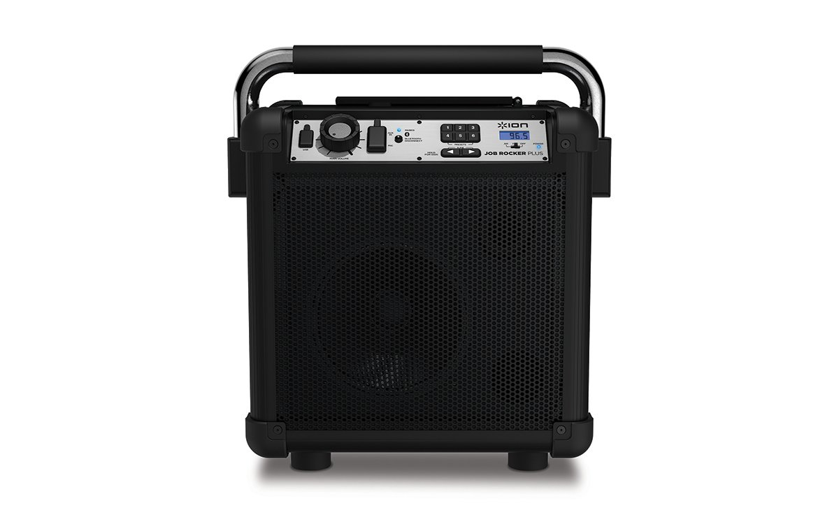 Ion Audio Job Rocker Plus (black) ION Audio Job Rocker Plus | Portable Heavy-Duty Jobsite Bluetooth Speaker System with AM/FM Radio + Mic Input (Black) by ION Audio (Image #2)