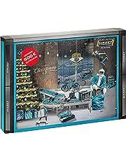 HAZET Santa Tools 2021 Adventskalender voor heren, met gereedschap, 28-delig met gereedschap, wereldprimeur, in extra anti-slip smart case voor het opbergen en waardebon voor de HAZET fanshop