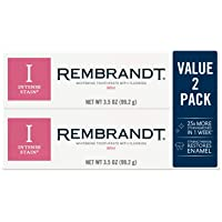 Rembrandt 2-Pack of 3.5-Ounce Mint Flavor Intense Stain Whitening Toothpaste