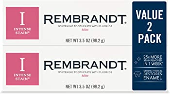 Rembrandt 2-Pack of 3.5-Oz Mint Flavor Intense Stain Whitening Toothpaste