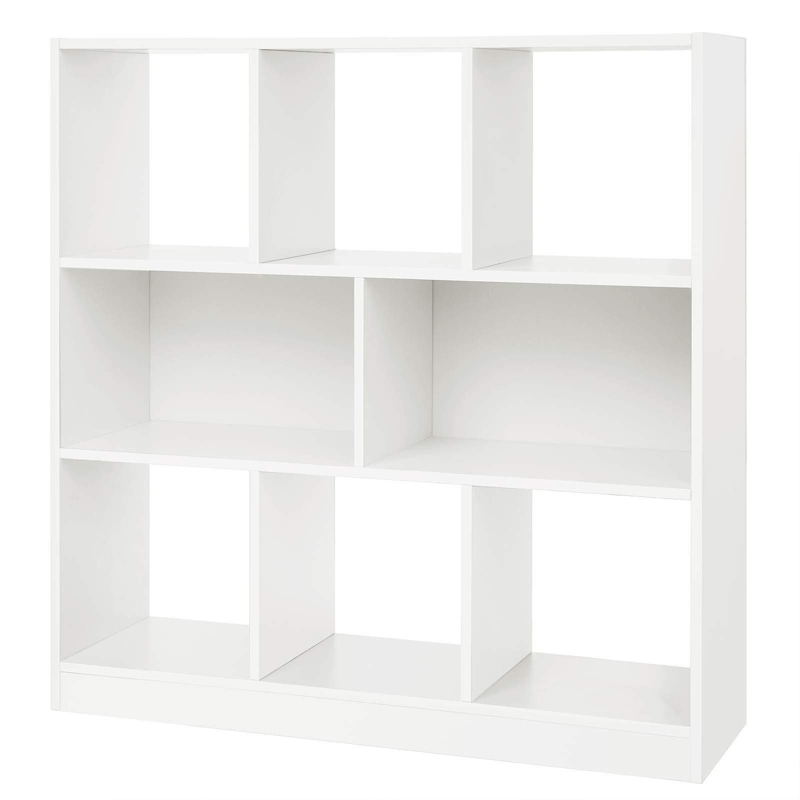 "SONGMICS Wooden Bookcase Open Cubes Shelves, Free Standing Bookshelf Storage Unit Display Cabinet, 33.9""L x 11"" x 37.2""H, White, ULBC52WT"