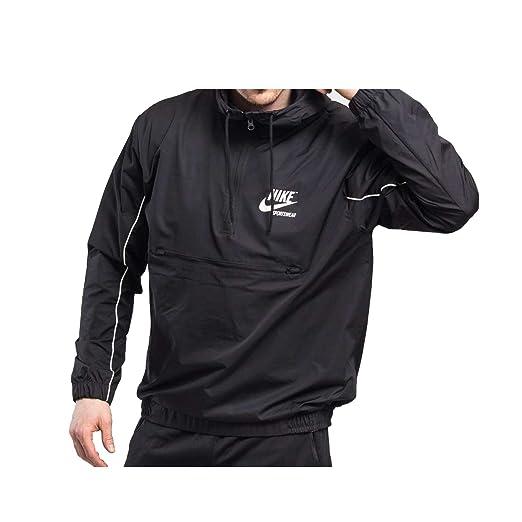 ad5a6de0c300 Nike Mens Archive Half Zip Woven Jacket Black Sail 941877-011 Size 2X-