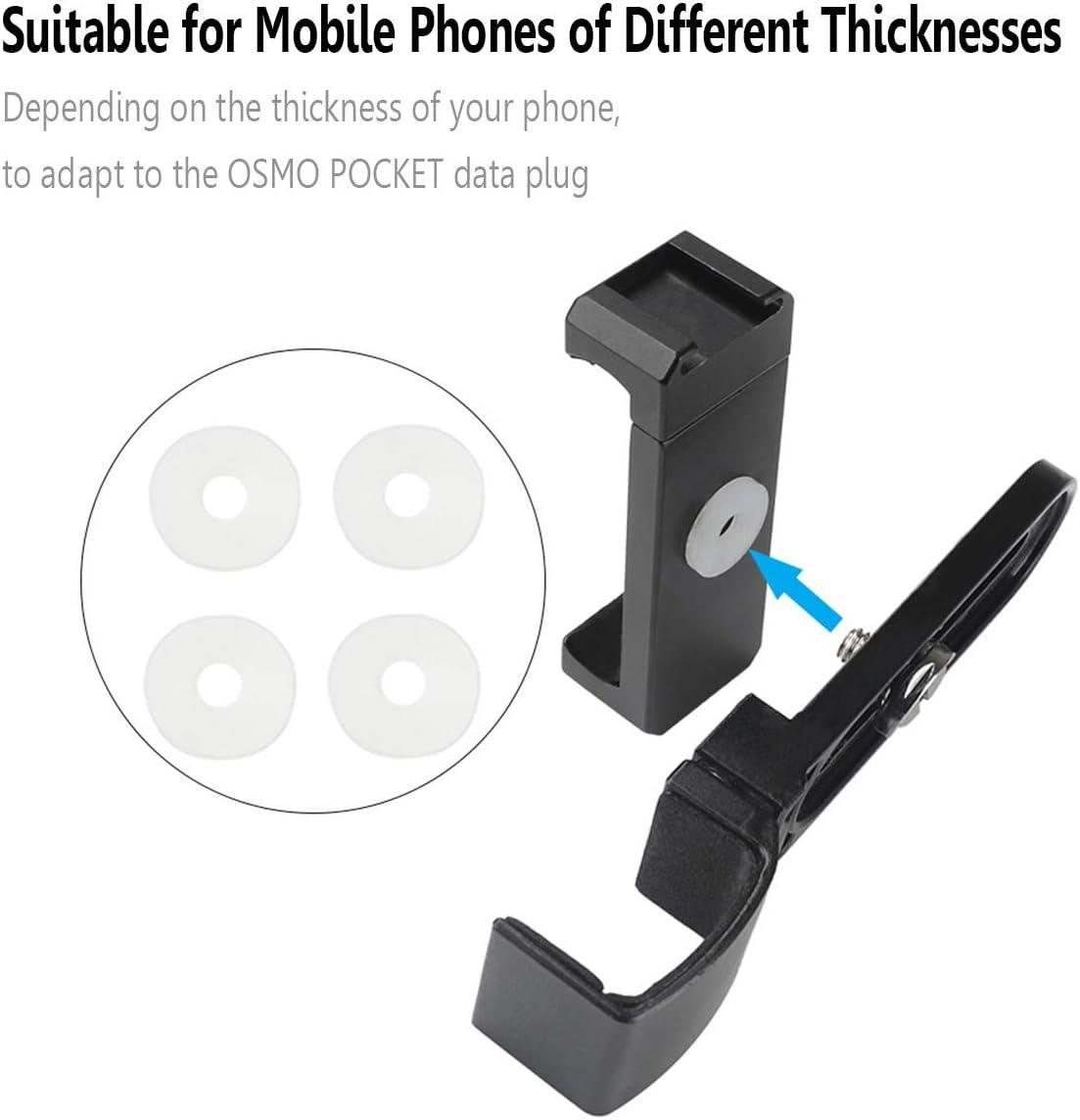 """Owoda Mis /à Niveau OSMO Pocket Support de t/él/éphone All Alliage daluminium Adsorption magn/étique avec Interface /à Griffe Froide Filetage 1//4 /"""" pour Accessoires de DJI OSMO Pocket"""