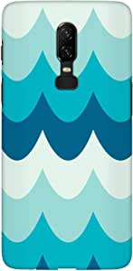 Stylizedd OnePlus 6 Slim Snap Basic Case Cover Matte Finish - Wavy Waves