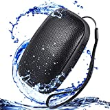 Waterproof IPX5 Portable Bluetooth Speakers, Water Resistant Wireless Speaker with 24 Hour Playtime Superior Sound and Enhanced Bass for Indoor/Outdoor(Black)