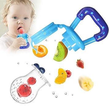 Toddler Baby Food Feeding Net Pocket Fresh Fruit Feeder Nibbler Teething Toys ·