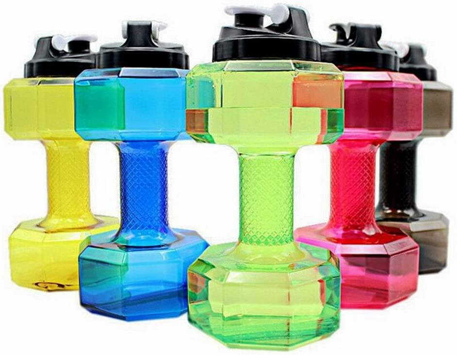 2X set Dumbbell Shaped Water Bottle Hand Weights Sports Free Shipping from USA!
