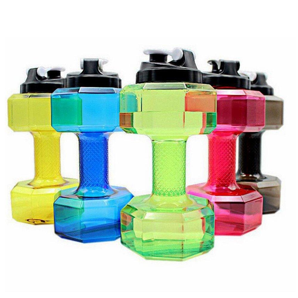 スポーツウォーターボトル2.2l大容量topindダンベル型ボトル環境に優しいプラスチックSports Running FitnessケトルPETG  ブラック B075CGYDXT