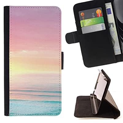 FJCases Amanecer Océano Verano Playa Carcasa Funda Billetera con Ranuras para Tarjetas y Soporte Plegable para HTC U11