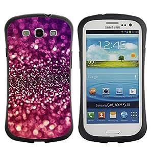 LASTONE PHONE CASE / Suave Silicona Caso Carcasa de Caucho Funda para Samsung Galaxy S3 I9300 / Sparkle Purple Bright Reflective