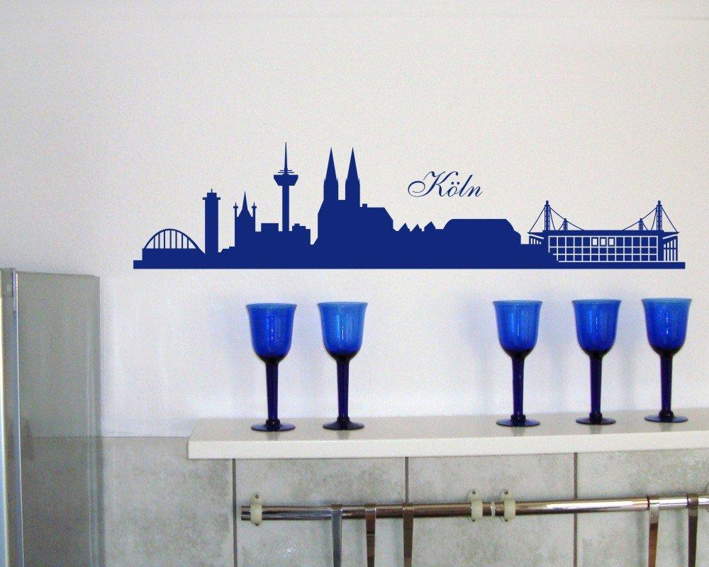 Samunshi® Wandtattoo Köln Köln Köln Skyline Stadion in 6 Größen und 19 Farben (230x52cm schwarz) B004JRNEZ8 Wandtattoos & Wandbilder 25408c