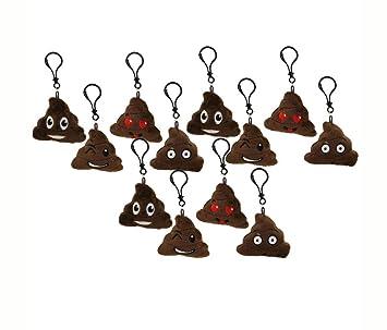 mozlly peluche Emoji caca llavero conjunto de 12 de peluche ...