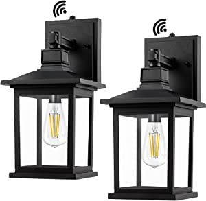 PARTPHONER Outdoor Light Fixtures Wall Mount, Set of 2 Exterior Porch Lights with Dusk to Dawn Sensor, Waterproof Outdoor Lamp, Anti-Rust Outside Wall Sconce Lantern for House, Garage, Doorway