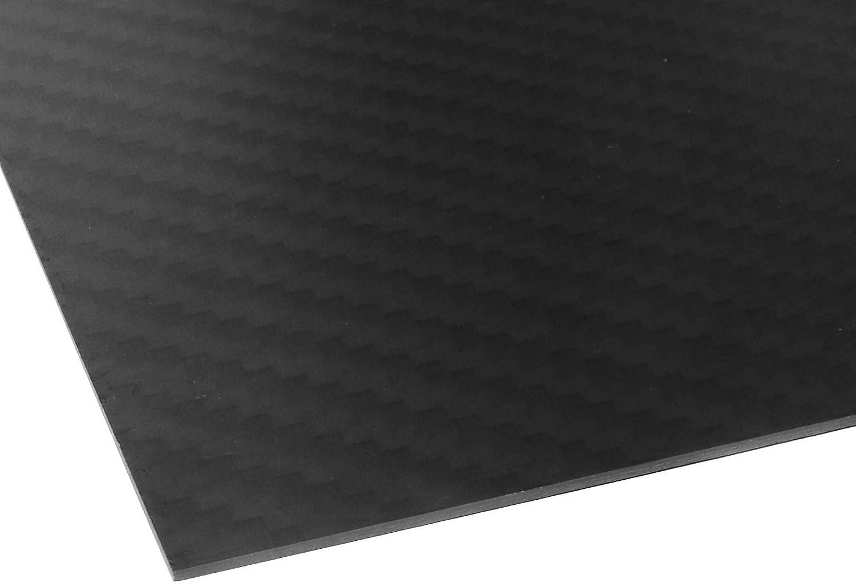 OTOTEC 3K Black Carbon Fiber Plate Plain Weave Panel Sheet 1.5mm Thickness