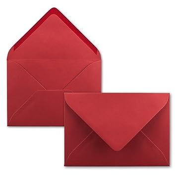 Serie FarbenFroh/® DIN C6-114 x 162 mm Kuverts mit Nassklebung ohne Fenster f/ür Gru/ß-Karten /& Einladungen 25 Brief-Umschl/äge Lila