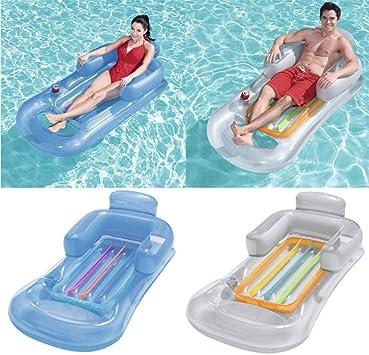 QIROG - Colchón hinchable flotante para playa, natación, piscina ...