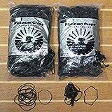 Platinum Crepe #32 Black Rubber Bands - 1Lb.