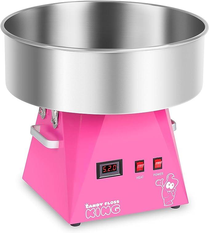 Royal Catering RCZK-1030-W-R Máquina de Algodón de Azúcar Industrial (Ø 52 cm, 1030 W, 1 unidad / 30 s, Acero Inoxidable) Rosa: Amazon.es