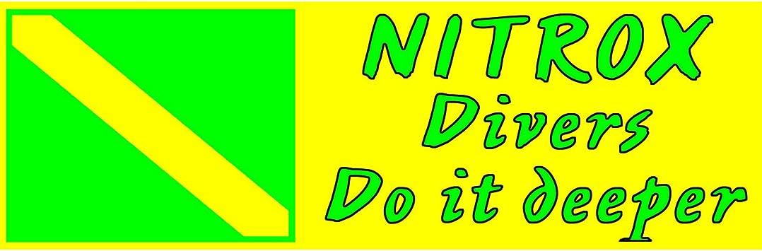 Trident Nitrox Flag Sticker 2.2 in x 3 in.