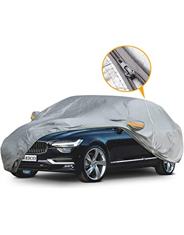 YIBEICO Car Cover for Sedan, Waterproof Outdoor Full Car Cover with a Driver-Side