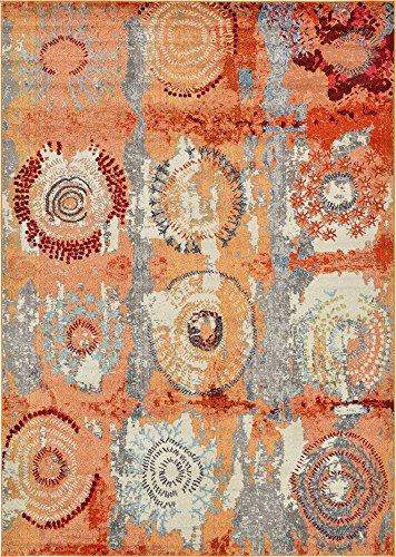 - Unique Loom Estrella Collection Modern Abstract Orange Area Rug (7' 0 x 10' 0)