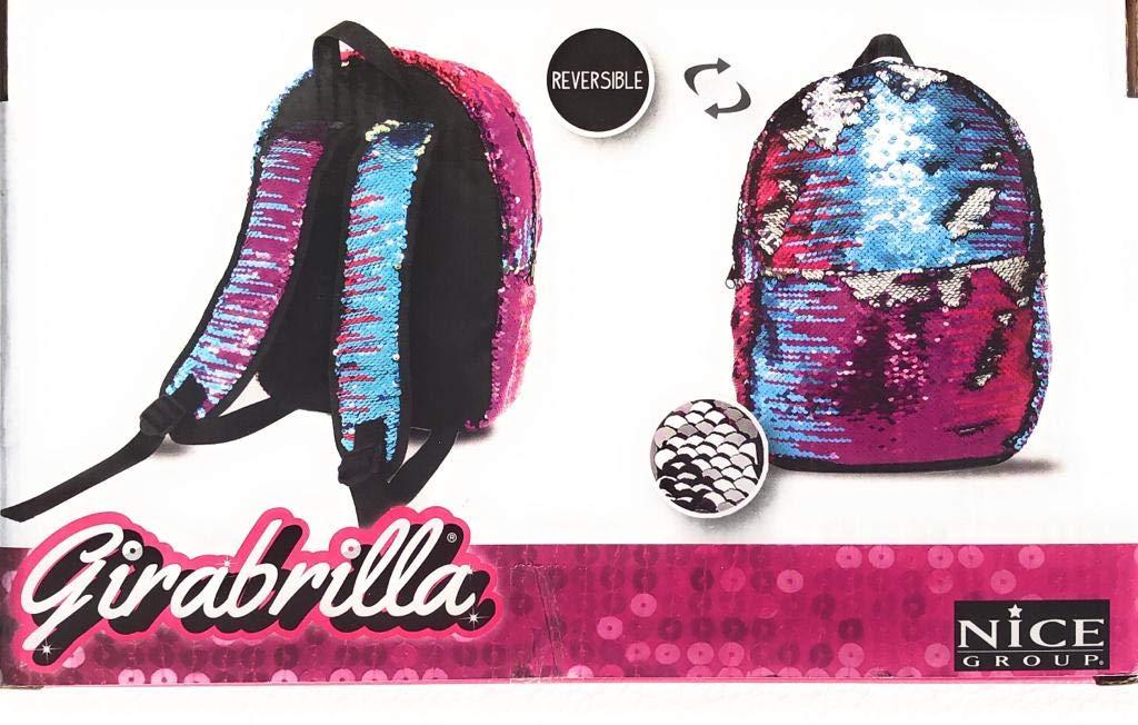 Girabrilla Zaino Backpack Galaxy novità Colori reversibili con Fasce Nice 02525