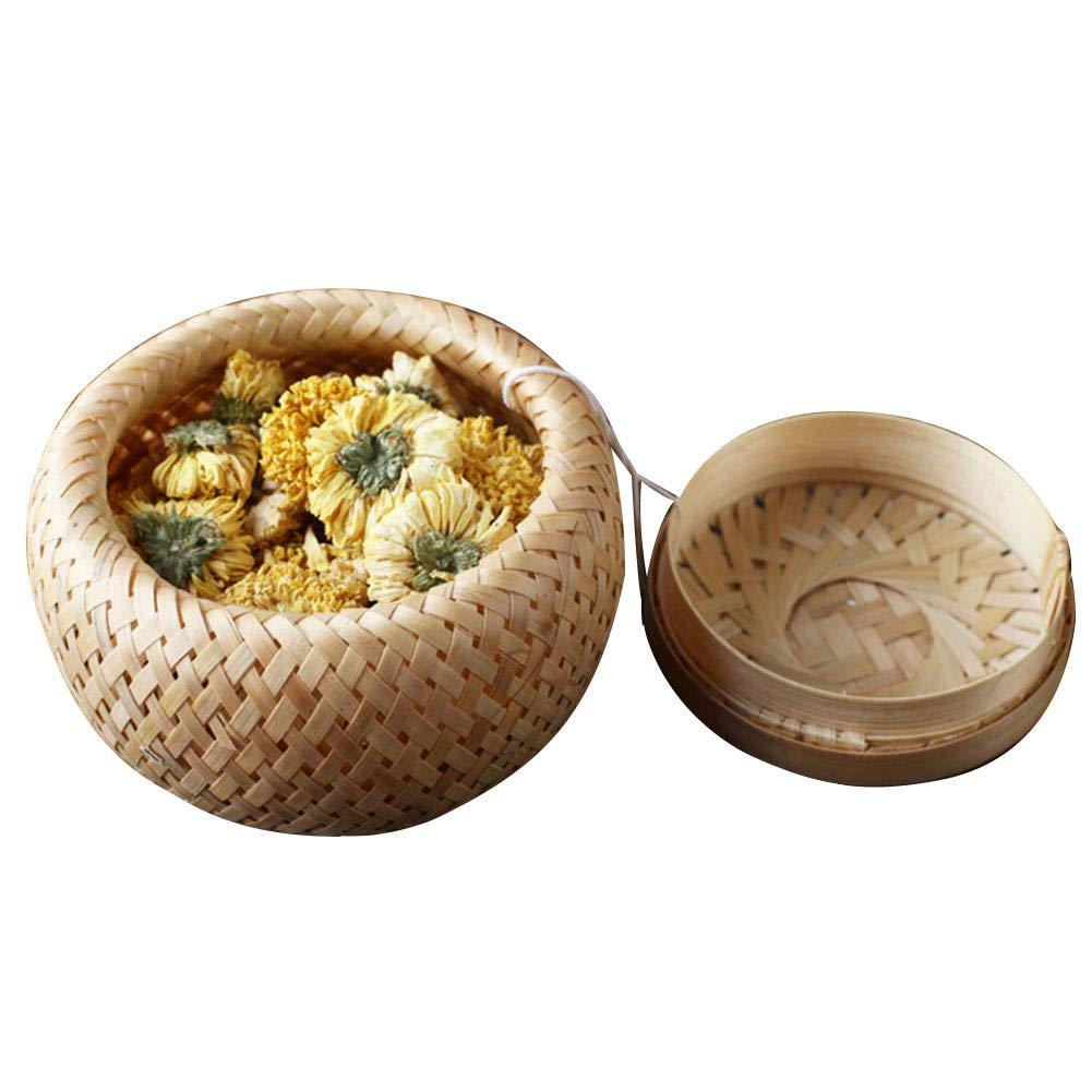 24 X petit rond en osier paniers de fruits à Grignoter de stockage naturel Bambou Cadeau Paniers