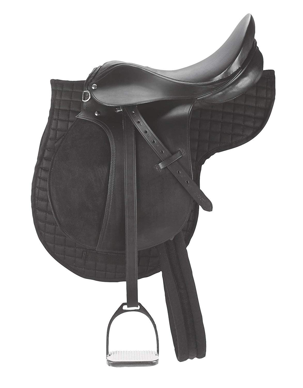 de Piel para Uso General tama/ño: Asiento Disponible de 14 a 18 Pulgadas Leather Craft Sill/ín de Caballo sint/ético para Uso General