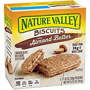 Nature Valley Biscuits, Almond Butter, 5-ct, 1.4 oz
