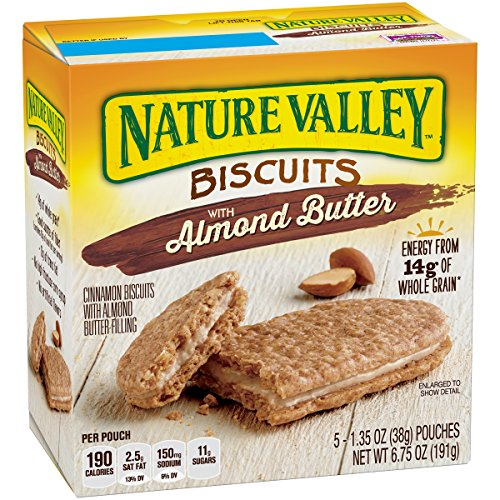 (Nature Valley Breakfast Biscuits, Breakfast Sandwich, Almond Butter Filling, 5 Pack)