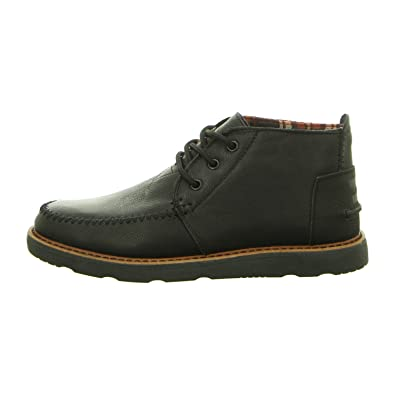 956446bb98c84 TOMS Men's Chukka Boot Black Full Grain Leather 12 D US