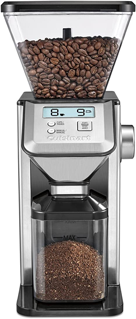 Coffee Grinder In Brushed Stainless Cuisinart Deluxe Grind Conical Burr Mill