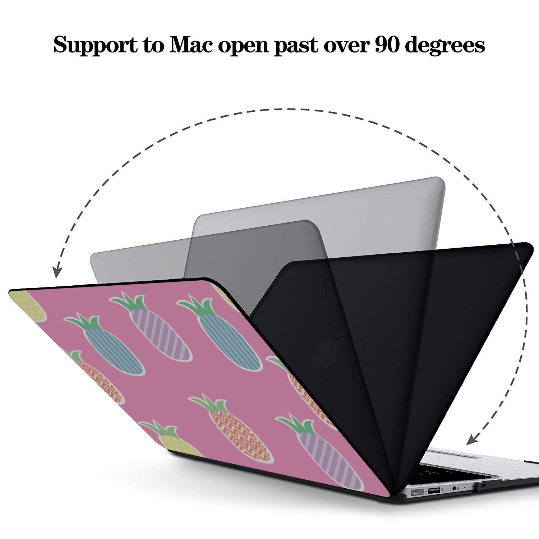 MacBook Computer Case Summer Retro Sweet Fruit Pineapple Plastic Hard Shell Compatible Mac Air 11 Pro 13 15 MacBook Computer Case Protection for MacBook 2016-2019 Version