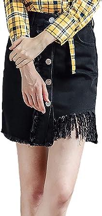 Falda Vaquera Mujer Vintage Fashion Alta Slim Cintura Fit Un Solo ...