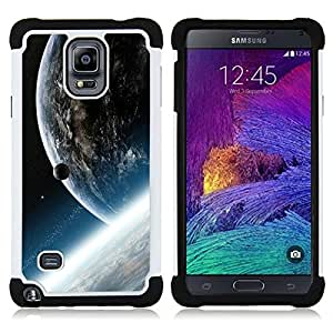 - Space Planet Galaxy Stars 33/ H??brido 3in1 Deluxe Impreso duro Soft Alto Impacto caja de la armadura Defender - SHIMIN CAO - For Samsung Galaxy Note 4 SM-N910 N910