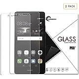 [2-Pièces] Huawei P9 protection d'écran, LaTEC Premium Protection d'écran en verre trempé pour Huawei P9 13,2 cm, 0,26 mm Dureté 9H HD clair, anti-rayures et anti-traces, sans bulles