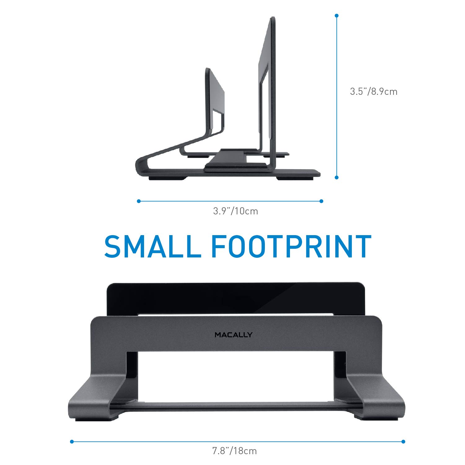 Macally Vertical Laptop Stand for Desk Space - Adjustable Vertical Stand Cradle - Laptop Holder - Apple MacBook Pro Air/Asus Chromebook Flip Samsung Notebook 9 Lenovo ThinkPad Dell XPS Acer Switch by Macally (Image #9)
