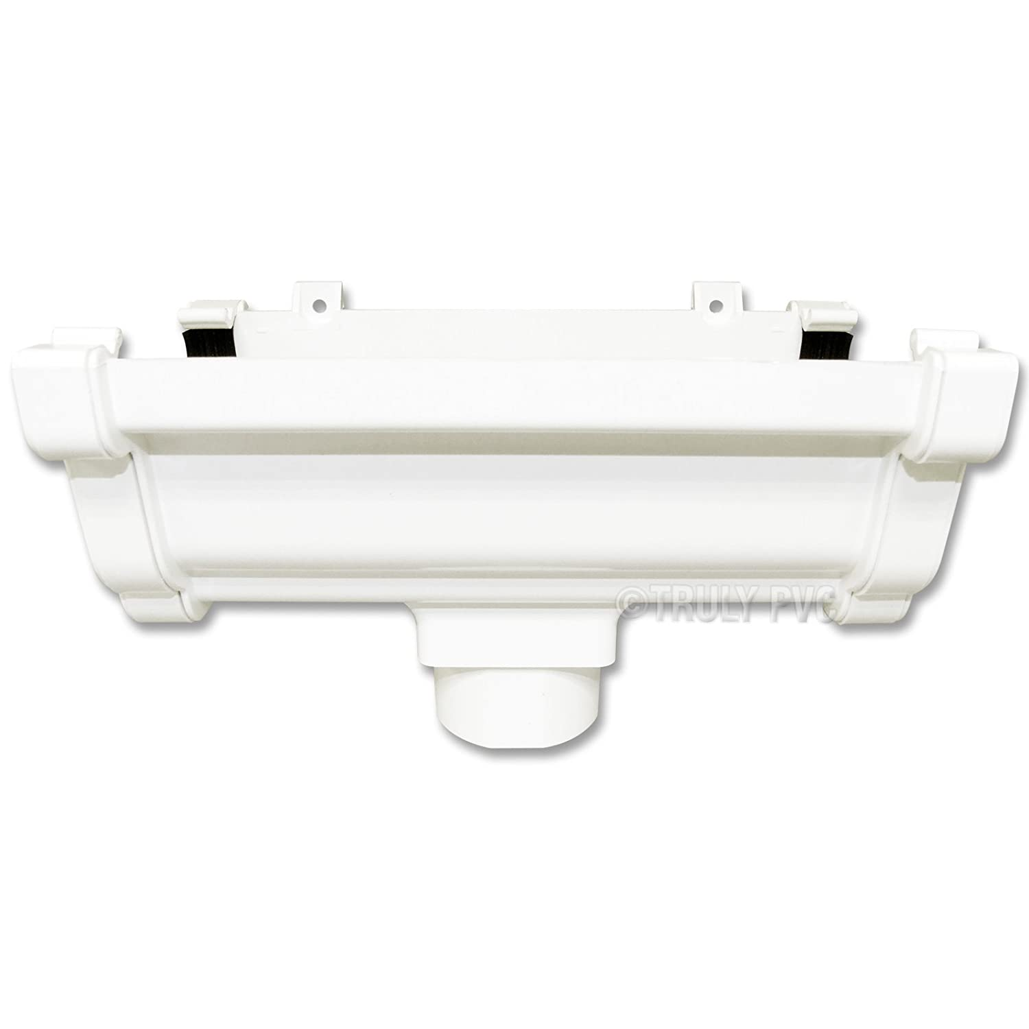 Drain Point White Eurocell RWKO1 Marshall Tufflex Conservatory Gutter Running Outlet for Downpipe