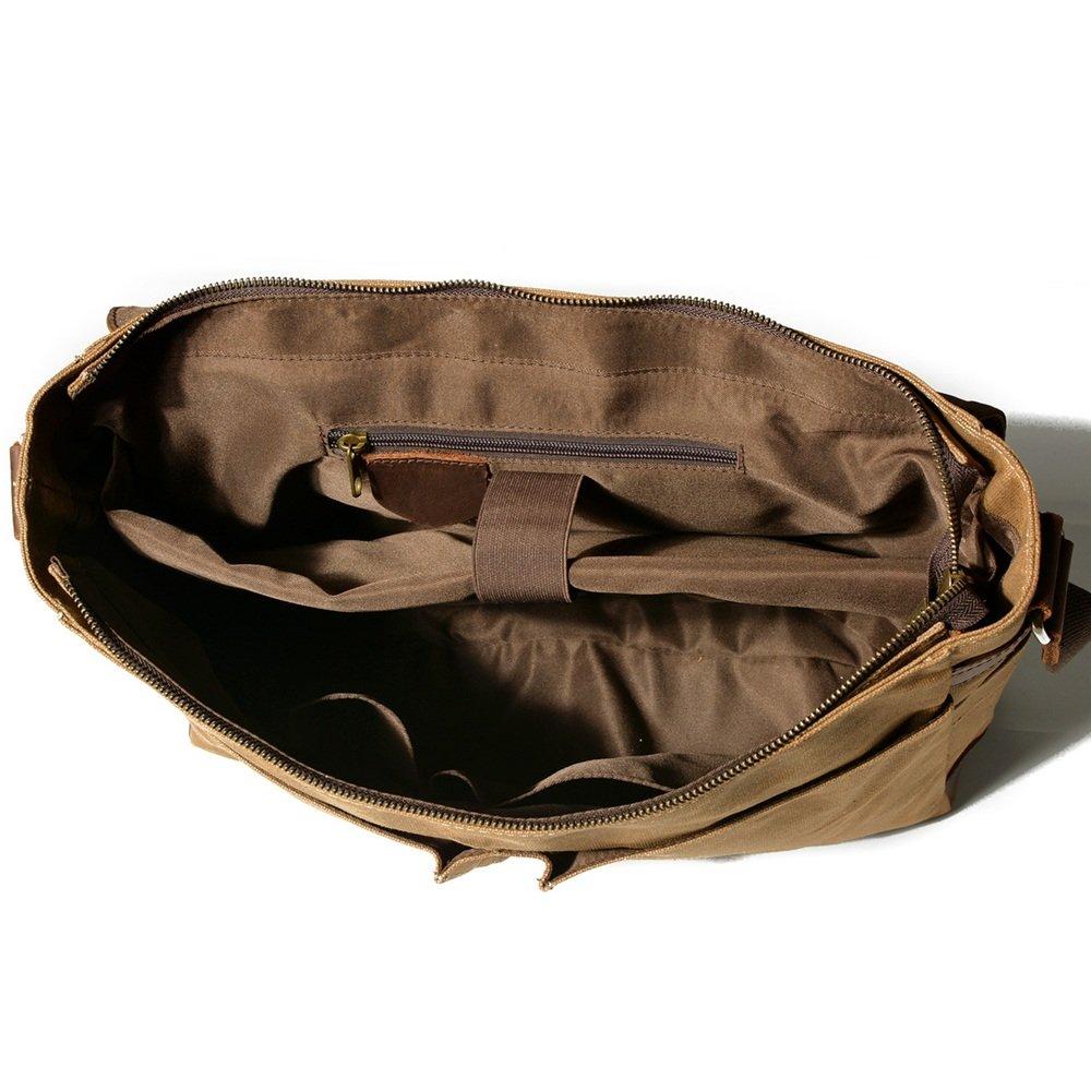LPYMX Shoulder Bag Retro Portable Documentary Mens Bag Canvas Messenger Bag Color : C