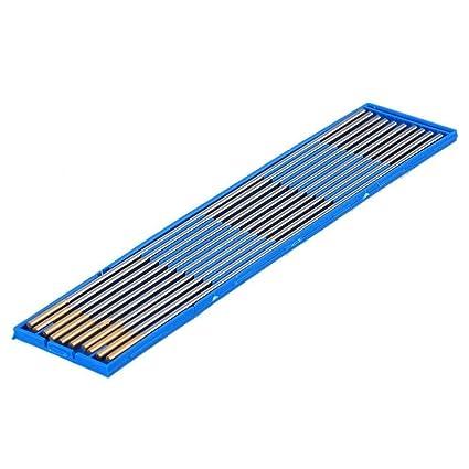 TEN-HIGH TIG Tungsten Electrodes Lanthanum 1.5/% WL15 Lanthanum Tungsten Electrode Gold 1.6mm x175mm 10pcs Pack.