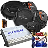 "(2) JBL GTO 939 Premium 6x9"" Co-Axial Speaker + (2) GTO609C Premium 6.5"" Component Speaker System + Hifonics ZXX-600.4 Zeus 600 Watt 4 Channel Bridgeable Amplifier + Amp Kit"