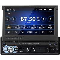 1 DIN estéreo para automóvil Bluetooth, pantalla táctil