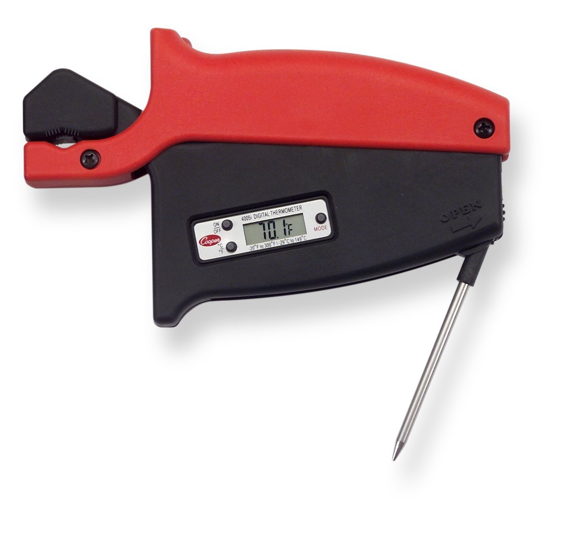 Cooper-Atkins 4005I Cordless Pipe Clamp Thermistor Surface Instrument, -20° to 300°F Temperature Range