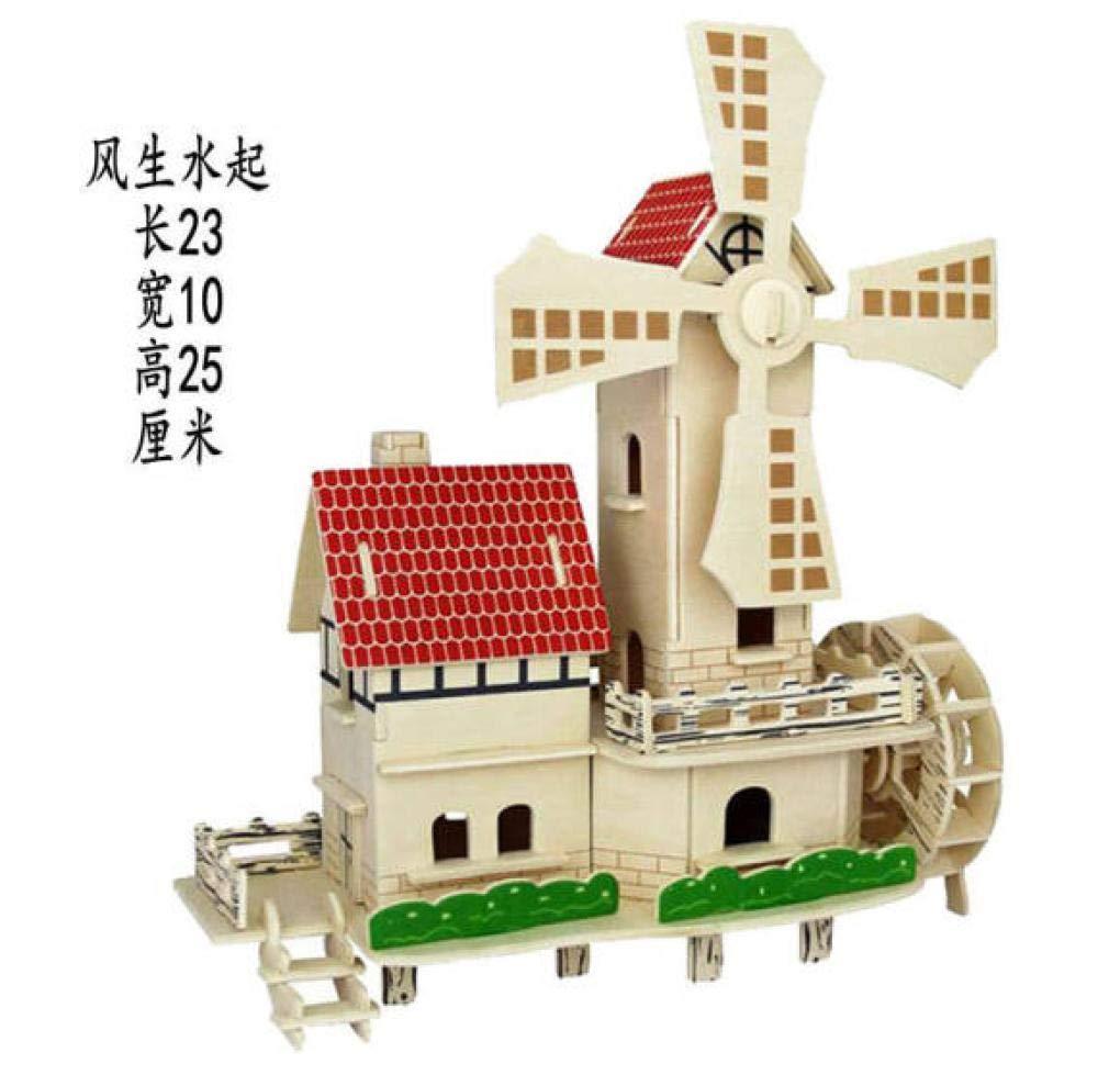 Yyyff Rompecabezas Tridimensional casa de Madera ensamblada ensamblada ensamblada Modelo de construcción de simulación de Madera 3D  promociones emocionantes