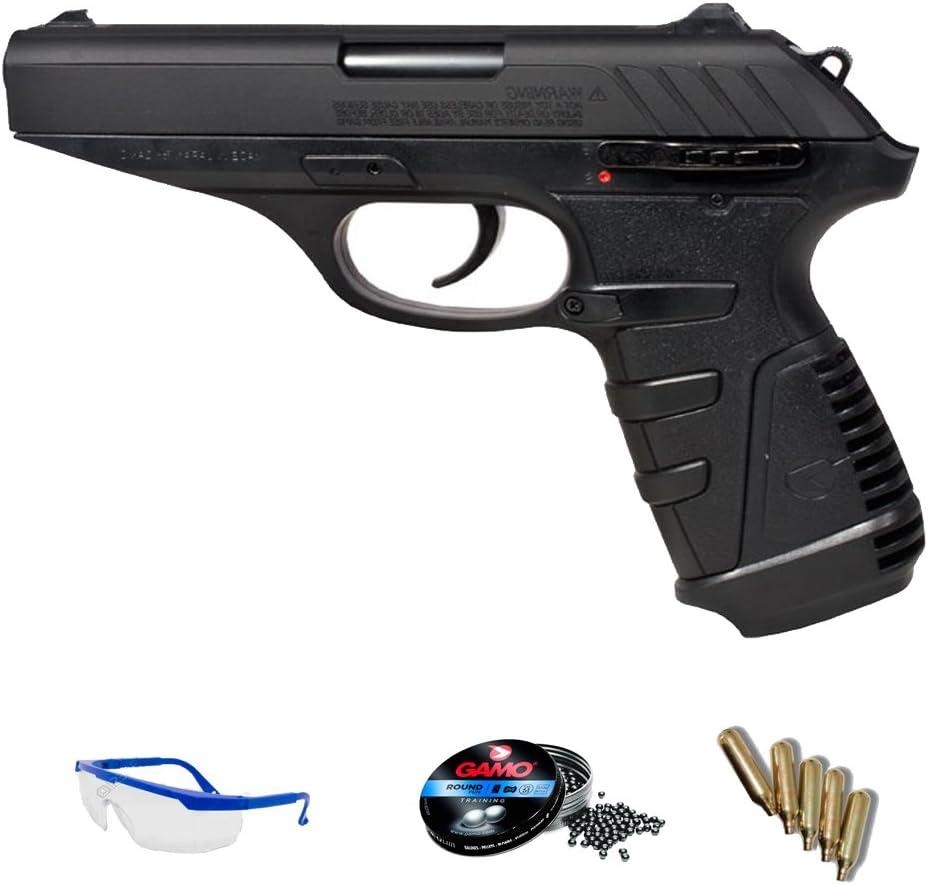 Gamo Pack Pistola de CO2 P25 blowback de balines de Plomo (perdigones) <3,5J