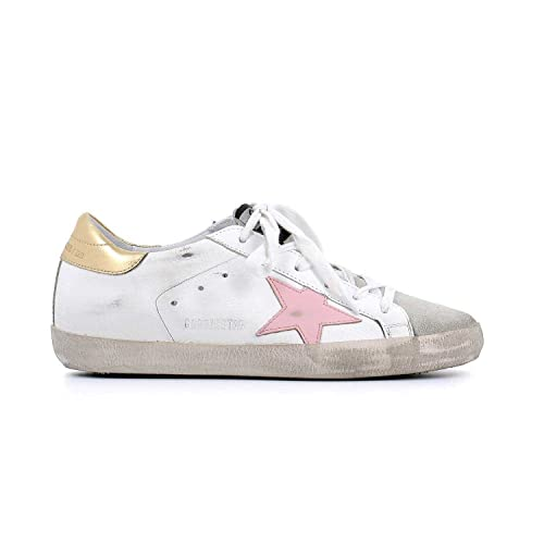 ee0698014a671 Golden Goose The Women s Sneakers Superstar White-Gold Pink Star  G32WS590.E76 (Size