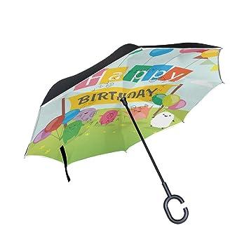isaoa un paraguas grande puede paraguas resistente al viento doble capa construcción invertido plegable paraguas para