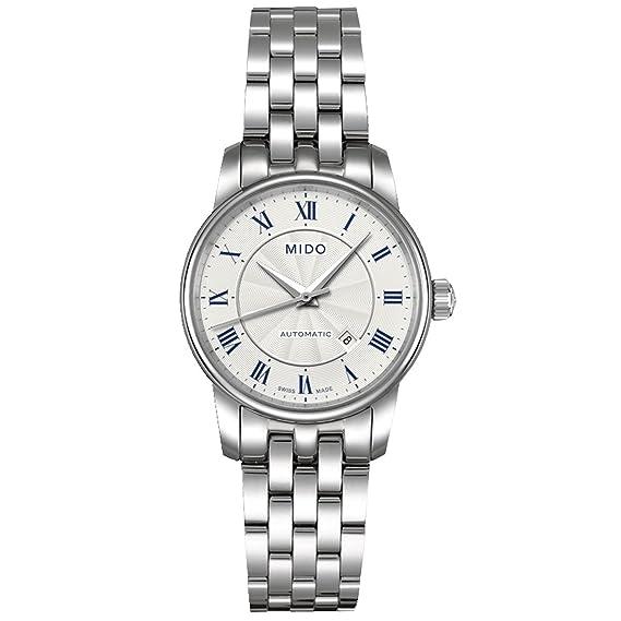 MIDO Baroncelli - Reloj de Pulsera para Mujer analógico automático de Acero Inoxidable m7600.4.21.1: Amazon.es: Relojes